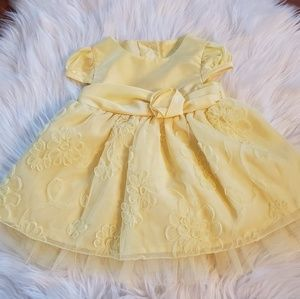 Fully Lined Yellow Formal Baby Dress